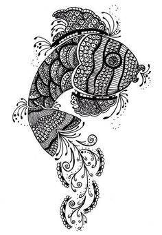 zentangle fish