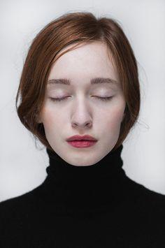 detalles intensos: cabellos y labios