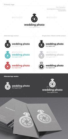 Wedding Photo Logo — Vector EPS #love story #photography logo • Available here → https://graphicriver.net/item/wedding-photo-logo/9895273?ref=pxcr