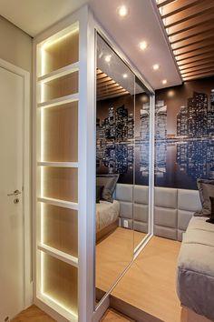 Apartamento Jundiaí: Quartos  por Designer de Interiores e Paisagista Iara Kílaris