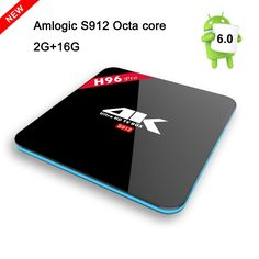 56.68$  Watch now - http://alitqk.worldwells.pw/go.php?t=32713449280 - H96 PRO TV BOX 2G/16G Android 6.0 Smart TV BOX Amlogic S912 Octa Core HDMI OTA Miracast H.265 4K UHD 3D 2.4G/5G WiFi Set-top Box 56.68$