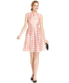 London Times Sleeveless Striped A-Line Dress (Macy's) They also have this at modcloth!