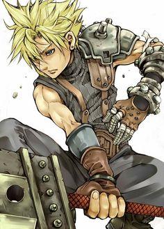 Cloud Strife. Fan art. Final Fantasy VII.