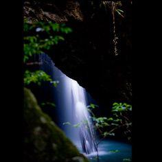 Waterfall at Natural Arch
