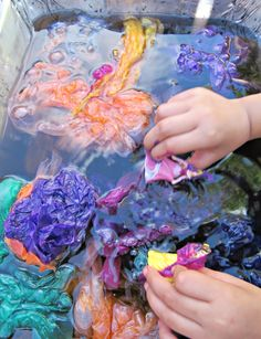 Pitch and Paint activity with Tissue Paper