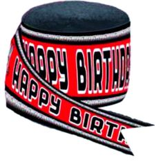 """[Single Pack] Crepe Paper Streamer Roll """"WWE Wrestling Birthday Design"""" for Decoration and Craft Supply with 30 Ft / 9.1 M Length {Red, Black, and White Colors}"""