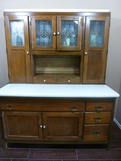 """Antique Oak Sellers Hoosier Kitchen Cabinet LOCAL PICK UP ONLY 1900""""s-1930's 