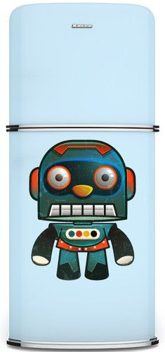 Kudu Original Fridge/Refrigerator Magnetic Panel: Decorative Magnet: Robi Robot http://cgi.ebay.com/ws/eBayISAPI.dll?ViewItem=330901674078
