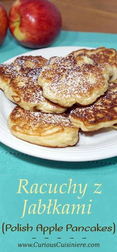 Crispy on the outside, sweet and fluffy on the inside, these Polish Apple Pancakes are sure to become a favorite fall breakfast treat! Pancakes Nutella, Pancakes And Waffles, Polish Desserts, Polish Recipes, Breakfast Dishes, Breakfast Recipes, Fall Breakfast, Polish Breakfast, Breakfast Pancakes