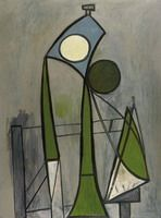 Pablo Picasso. Woman in a chair [Figure], 1946