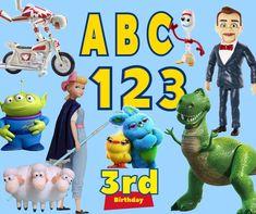 4th Birthday Parties, 3rd Birthday, Toy Story Font, Elsa Olaf, Buzz Lightyear, Handmade Items, Handmade Gifts, Birthday Party Invitations, Cool Toys