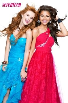 Zendaya and Bella Thorne are best friends on their hit Disney show Shake It Up. In a recent interview with HuffPost Live, Zendaya, beams like a protective older … Zendaya Coleman, Bella Thorne And Zendaya, Bella Throne, Seventeen Magazine, Cheap Prom Dresses, Up Girl, Star Fashion, My Idol, Party Dress
