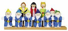 Blanche-Neige et les 7 nains (marionnettes à doigt) 21€