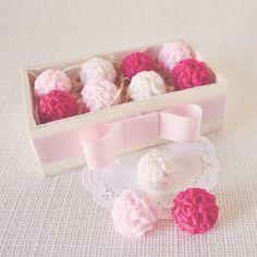 mini sabonetes buquê de flores
