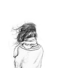 Yoshinori Kobayashi Illustration on imgfave Drawing Hair, Painting & Drawing, Wind Drawing, Scarf Drawing, Hair Painting, Drawing Sketches, Art Drawings, Sketching, Pencil Drawings