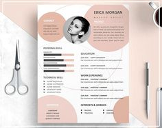 Nude Pink Resume Template/ Nude Pink CV Template/ Professional Resume Template/ Creative Resume Template/ Professional CV Template Design - Resume Template Ideas of Resume Template - Nude Pink Resume Template/ Nude Pink CV Template/ Professional Graphic Design Resume, Resume Design Template, Creative Resume Templates, Cv Template Professional, Professional Resume, Professional Image, Cv Digital, Cv Inspiration, Letter Icon