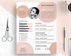 Modèle de CV Rose nude / Nude Rose CV modèle professionnel de
