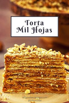 Torta Mil Hojas is part of Mil hojas cake recipe - Apple Recipes Easy, Sweet Recipes, Baking Recipes, Cake Recipes, Mil Hojas Cake Recipe, Food Cakes, Cupcake Cakes, Giant Cookie Recipes, Christmas Cake Recipe Traditional