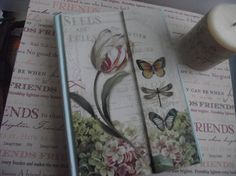 Flower Journal  Gliller  French   Background by mslizz on Etsy, $18.00