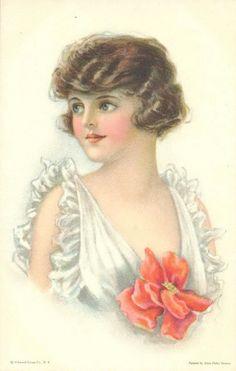 Alice Luella Fidler ~ girl with flower