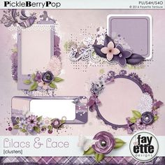 Lilacs & Lace Clusters By Fayette Designs
