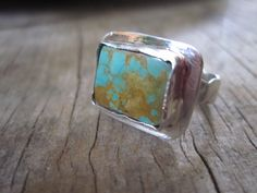Sterling and Turquoise Ring Handmade by by JudithGayleDesigns, $72.00