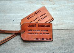 Need to make some of these....leather, hammer, letters/punch and tanning/color!