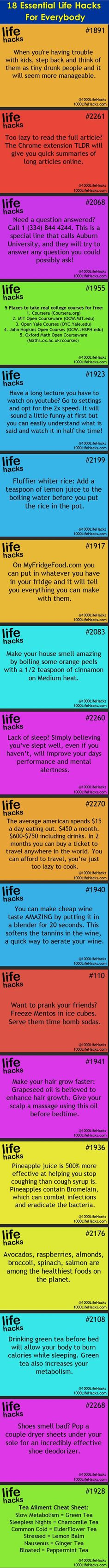 18 essential life hacks for everybody. Simple Life Hacks, Useful Life Hacks, Summer Life Hacks, Life Advice, Good Advice, The More You Know, Good To Know, 1000 Lifehacks, E Mc2
