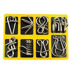 Iq Puzzle, Puzzle Toys, Puzzle Games, Montessori Materials, Montessori Toys, Metal Puzzles, Brain Teaser Puzzles, Buy Metal, Mind Games
