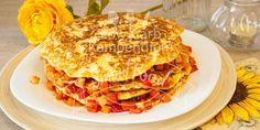 Low Carb Pfannkuchen-Turm Herzhaft & lecker, mit buntem Gemüse & ohne Fleisch (inkl. Rezept-Video)