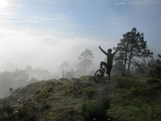 Watching the sun rise over the cloud forest of the Sierra Norte in Oaxaca on our mountain bike tour in Mexico.