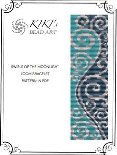 Swirls of the moonlight LOOM bracelet PDF pattern instant download