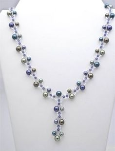 SPN-020 (Criss Cross Pearls Necklace) | Beads Bagan