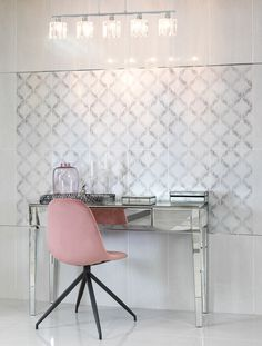 Embrace the elegant style of Vintage Romance – nostalgic, traditional…classic. Use a delicately patterned décor tile to create a feature which defines the space, and the mood. Feature Walls, Vintage Romance, Trendy Home, Floors, Tiles, Mood, Traditional, Space, Elegant