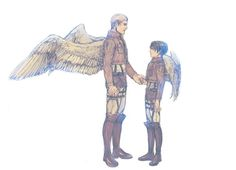 let's fly together, my friend. one last time. Levi And Erwin, Flying Together, Eruri, Levi Ackerman, Anime Couples, Attack On Titan, Princess Zelda, Manga, Drawings