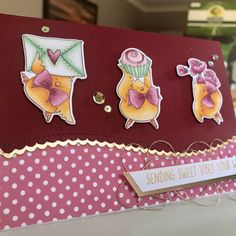 Stamping Bella – Valentine Chicks & matching dies Copic Markers Simon Says Stamp – Wavy Scallop border die Inspiration – Handmade by Christine . Simon Says Stamp, Copic Markers, Stamping, Appreciation, Thankful, Sweet, Blog, Cards, Handmade