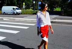 Nicole Warne Australian Fashion Week Street Style