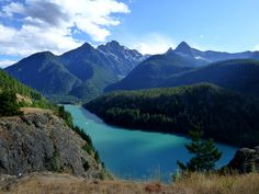 Diablo Reservoir and Colonial Peak in North Cascades National Park