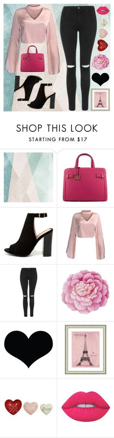"""""""Valentine's Day"""" by artamus on Polyvore featuring Sandberg Furniture, Bamboo, WithChic, Topshop, Ballard Designs, Brika, Vintage Print Gallery and Lime Crime"""