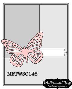 My Favorite Things - Winged Beauties stamp set (SKU 278415 - $15.30 CAD) and Winged Beauties Die-Namics Die (SKU 278776 - $22.10 CAD)