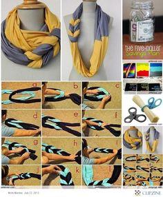 DIY  braided infinity scarf  @Piper Prolago