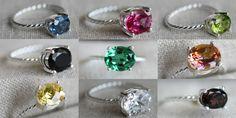 Amy Cornwell's Gemstone Rings - love them all.