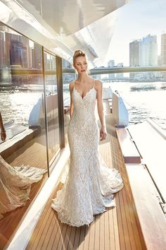 Wedding gown from the Eddy K Sky Collection.