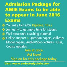 Procedure to get admission in AMIE after doing diploma in ...