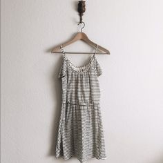 Striped Off Shoulder Dress Boutique Spaghetti strap off shoulder Stripes Dress! Has been a fav of mine in the past! Dresses
