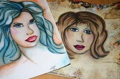 FACEcinating Girls created with Tombow Dual Brush Pens and PanPastel