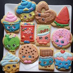 Specialized in customized fancy cookies and homemade chocolate. Specialized in customized fancy cookies and homemade chocolate. We make it delicious and exclusive Cookies For Kids, Fancy Cookies, Iced Cookies, Cute Cookies, Sugar Cookies, Chocolate Cookies, Shopkins Cookies, Shopkins Cake, Shopkins Donut