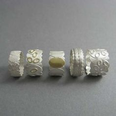 Beautiful rings by contemporary jewellery designer Donna Barry.
