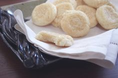 Soft and Chewy Almond Sugar Cookies CCK Original  (Printable Recipe)  1 1/2 C white sugar  2/3 C unsalted butter (cold)  2/3 C shortening (room temp)  2 eggs  2 tsp almond extract  2 3/4 C cake flour  1 C all purpose flour  1 Tbsp cornstarch  2 tsp baking powder  1/2 tsp salt  sugar in the raw (I like raw sugar for this, but any coarse sugar  or sprinkles would work)