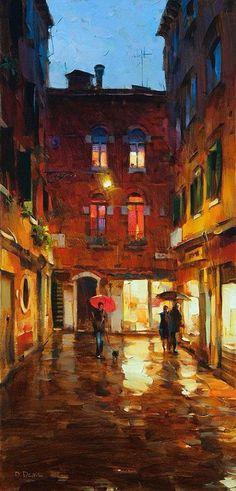 """""""Noviembre en Venecia"""". Dmitri Danés (Ucrania, 1966)."""